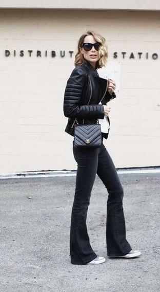 Pantalon Jean Mujer Negro Gastado Oxford Zara