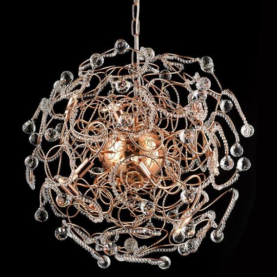 Pendente Medusa 60cm Isadora Design Ouro Rose Cb