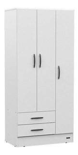 Ropero Placard 90 Cm 3 Puertas Blanco