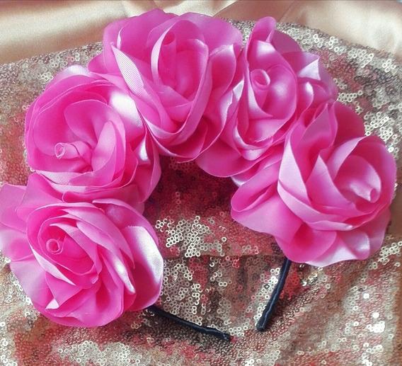 Diadema De Catrina De Flores Rosas