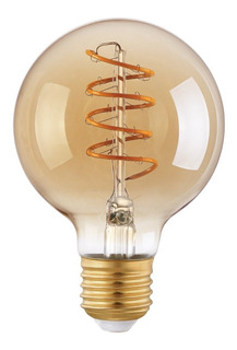 Lampara Filamento Led 5w Globo Flexible Golden G80 Dimer.