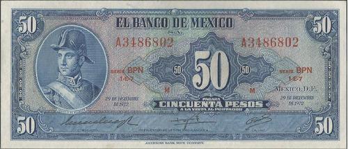 Imagen 1 de 2 de Mexico, 50 Pesos 29 Dic 1972 Serie Bpn P49u