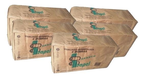 Papel Toalha Interfolha Branco 5000 Folhas 2 Dobras Promoção