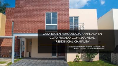 Hermosa Casa Remodelada Y Ampliada Coto Privado Chapalita