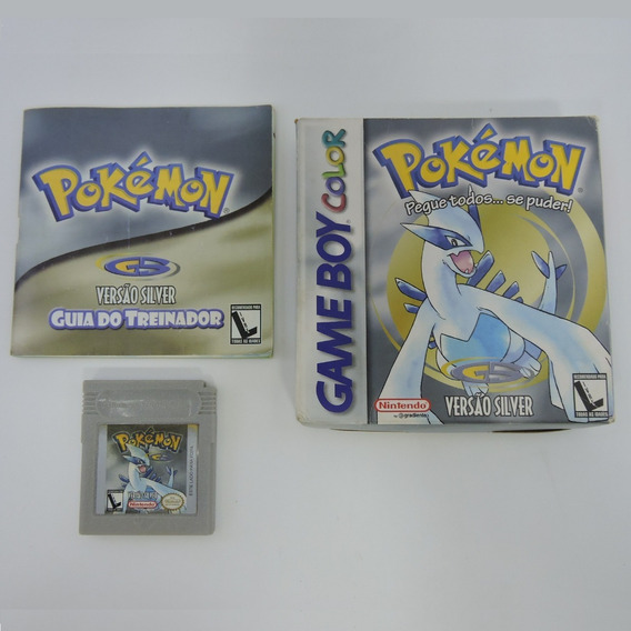 Pokémon Silver Nacional Original Americano Game Boy Color
