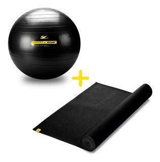 Kit Yoga Matt 6 Mm + Pelota 65 Cm + Inflador Ziva