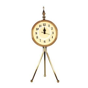 Relógio Tripe Dourado 46x16x16cm