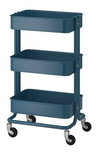 Carrito De Servicio Ikea Raskog Ikea Azul Oscuro Msi