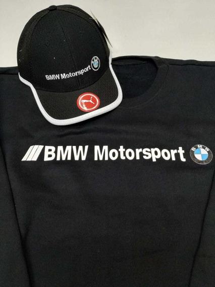 Blusa + Boné Bmw Motorsport Promoção $119