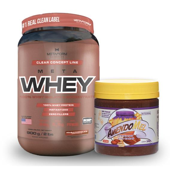 Whey Protein Isolate Peptide Isolado 900g + Pasta Amendoim