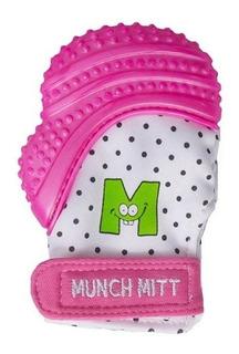 Guante Miton Mordedor Munch Mitt Para Bebé. Color Rosa