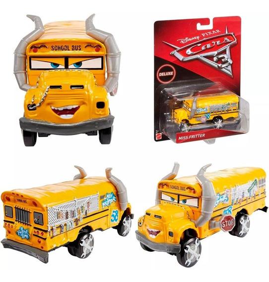 Ônibus Miss Fritter Carrinho De Metal Disney Pixar Carros 3