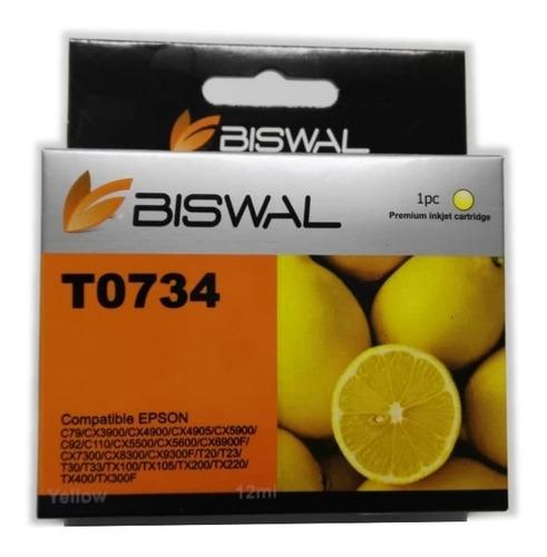 Tinta Generica Compatible T0734 C79 Cx3900 Tx200 Amarillo