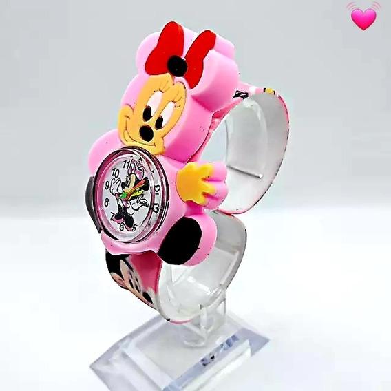 Relógio Minie Infantil Da Disney Feminino Rosa(minnie)
