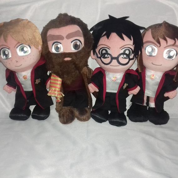 Harry Potter + Hagrid + Hermione + Ronnie Pelúcias