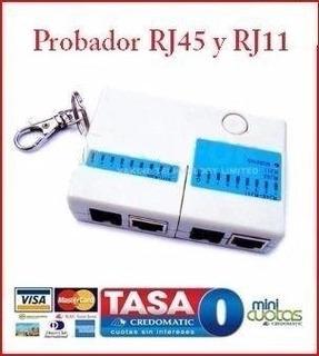 Cq Probador Cable Rj45 Lan Rj11 Cat5 Red Red Mini Cable Pc