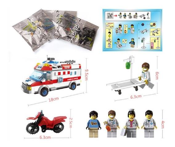 Kit Infantil Ambulância Brinquedo Educativo Bonecos Médicos