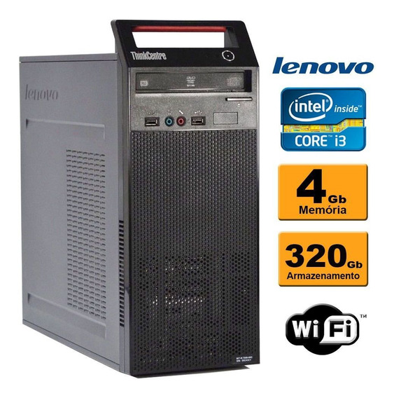 Cpu Lenovo Edge 73 Torre Intel Core I3 4ª 4gb Hd320gb Wifi