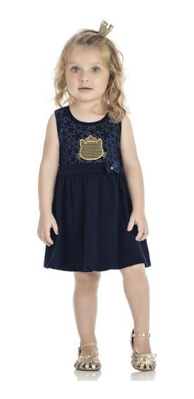 Vestido Infantil Kinha 01 A 03 Anos Gatinha