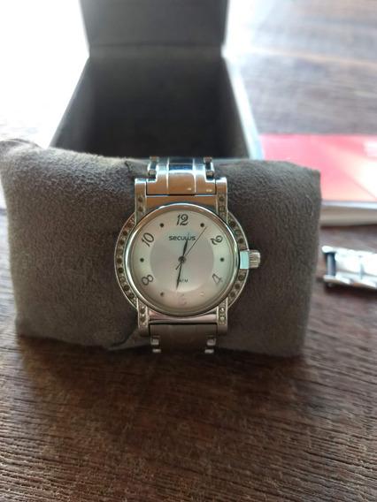 Relógio Seculus Prata Feminino