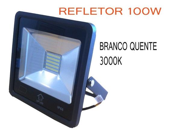 Refletor Led 100w Branco Quente 3000k Ip66 13394