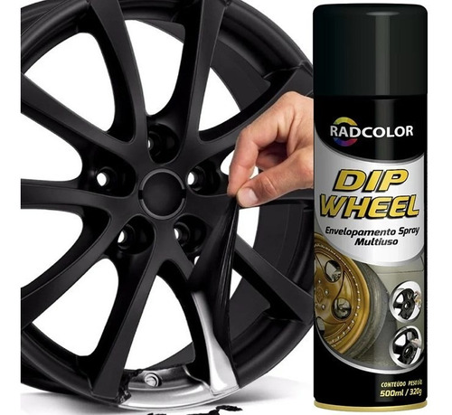 Spray De Envelopamento Líquido Dip Wheel 500ml Preto