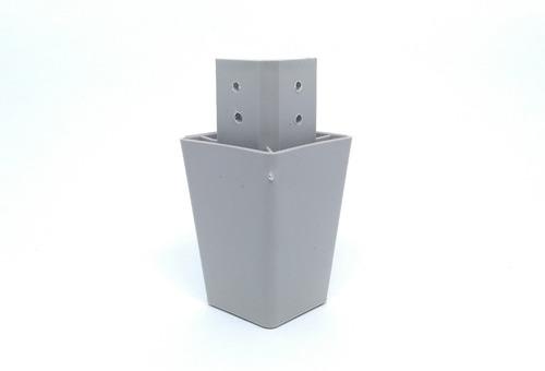 Imagem 1 de 4 de Kit 4 Pé Para Armário Balcão Roupeiro Canto 7cm Cinza