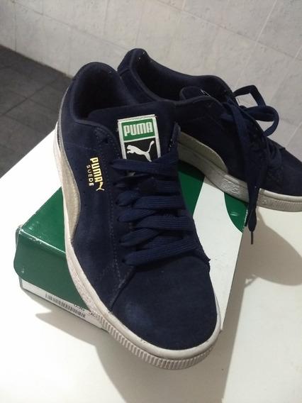 Tênis Puma Suede Azul Escuro Blue Original Pronta Entrega
