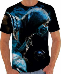Camiseta Mortal Kombat X Estampa Total Adulto