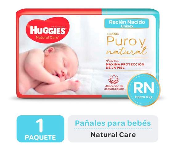 Pañales Huggies Natural Care Recién Nacido Y Pequeño X 34un