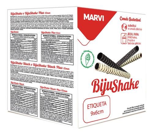 Canudo Comestível Baunilha 12g Bijushake 100un - Marvi