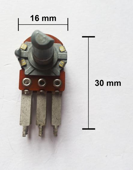 Potenciômetro Duplo 2 X 100 K Sem Derivação Liso