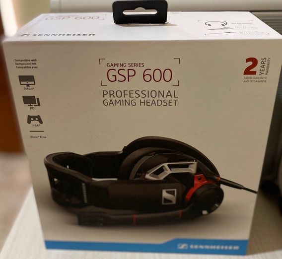 Sennheiser Headset Gsp 600 + Amplificador Gsx 1000 E Brinde