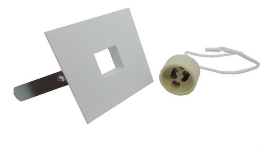 Kit 10 Spot Laser Quadrado Mini Dicroica Led 4w 3000k