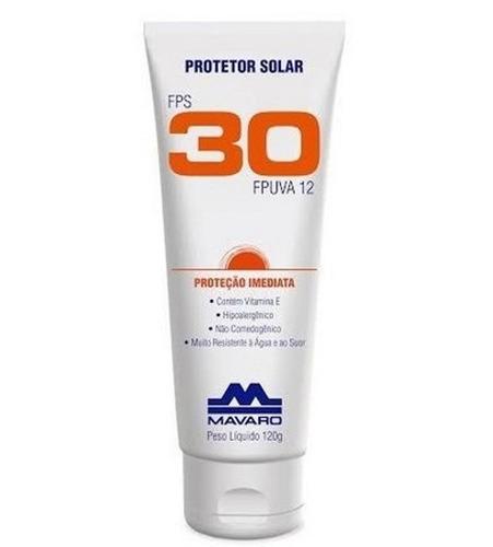 Imagem 1 de 1 de Protetor Solar Mavaro Fps30 De 120g