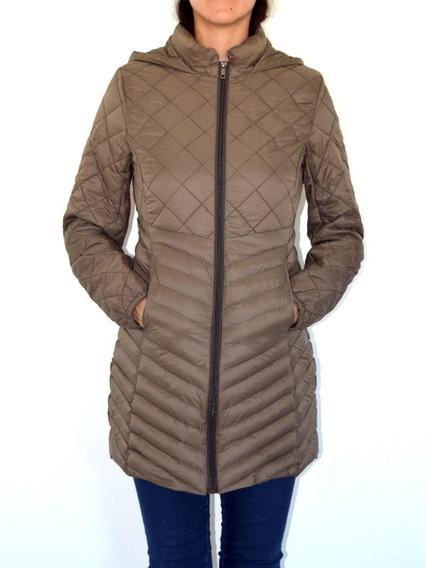 Campera Mujer Saco Inflable Importado Liviano C/ Capucha Ful