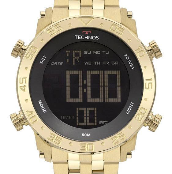 Relógio Technos Masculino Dourado Digital Bjk006ac/4p