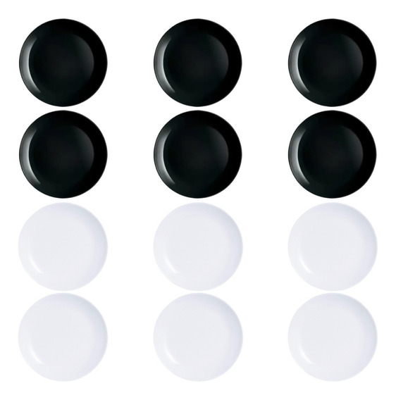 Plato Playo X6 Luminarc Diwali 25cm Vidrio Extra Resistente