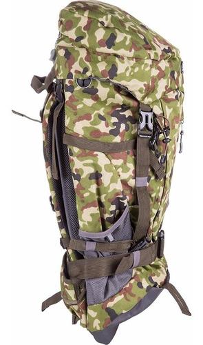 Imagem 1 de 6 de Mochila De Camping Trilha Ozark 55 Litros Camuflada Exército