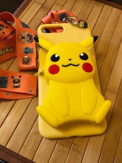 Capa De Telefone Com Bola Urso Pokemon Ziper