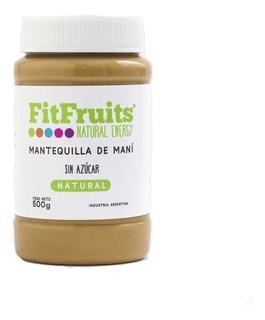 Pasta De Mani Mantequilla Fitfruits 500grs Sin Azucar Vegana