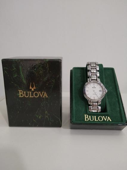 Relógio Bulova Original Com Nf De Compra (dezembro 2000).