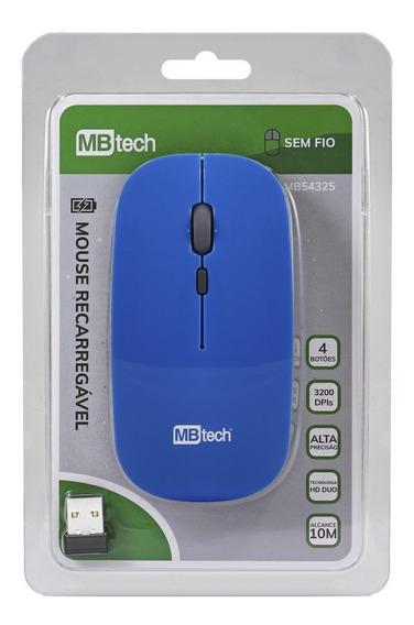 Mouse Wireless Hd 3200 Dpi Pc Notebook Branco Promoção