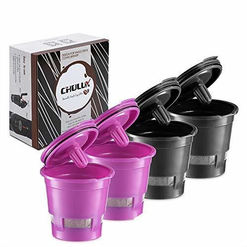 Filtro De Cafe Reutilizable De 4 Paquetes De Chulux Para Ca