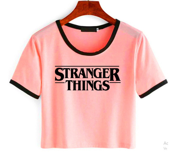 Remera Pupera Corta Stranger Things Ideal Regalo
