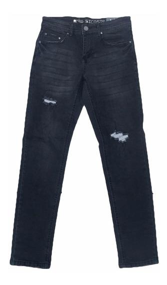 Pantalón De Hombre Negro Roto