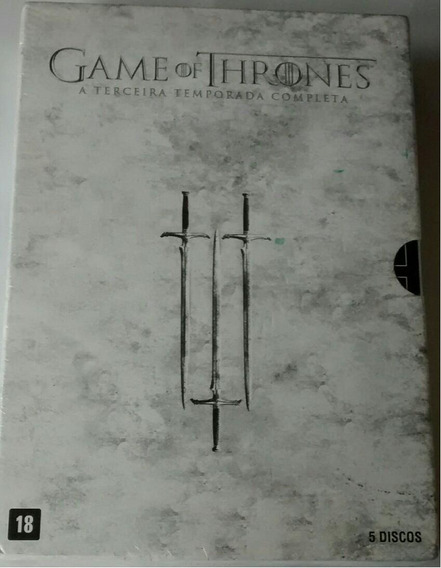 Box Dvd Game Of Thrones 3ªtemporada - Original - 5 Dvd