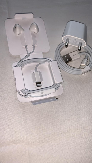 Kit Aces iPhone - Fonte 5w, Fone Lightning E Cabo Usb