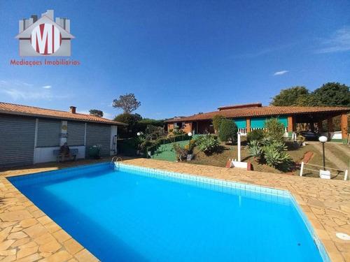 Imagem 1 de 30 de Chácara Deslumbrante Com 3 Dormitórios, Piscina, Edícula, Campinho, Bem Localizada, À Venda, 5000 M² Por R$ 580.000 - Rural - Tuiuti/sp - Ch1008