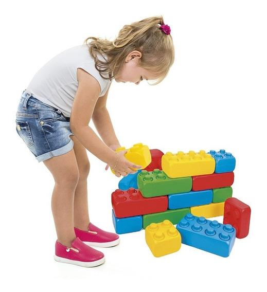 Brinquedo Didático Polibloc - 25 Peças - Poliplac